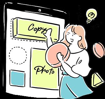 バナーデザインの方法を見ながら学ぶ